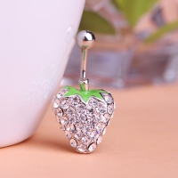 7113400052 Fashion Crystal strawberry  Belly Button Rings 1 color