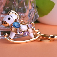 0210100258 Fashion Colourful Horse Bag Key Chains