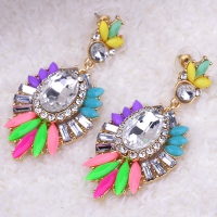 0203103147 Fashion Alloy  PMMA  Earrings 2 Colores
