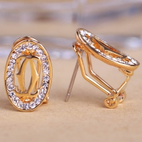 0203103065 Fashion Alloy  Rhinestone Earrings 2 Colores