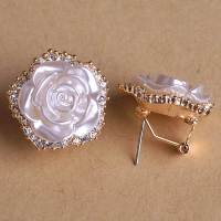 0203103036 Fashion Alloy  Crystal Flower  Earrings