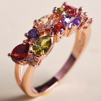 0202300087 Copper Zircon colourfull  Rings 5 Colores