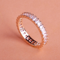 7102300020 Copper Zircon  Lustre Statement Rings 2 Colores
