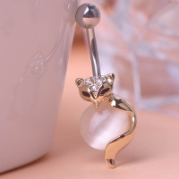 0213400183 Fashion Cat`s eye Fox Piercing Navel Belly Button Rings 1 color
