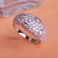 7102300018 Copper Crystal  Lustre Statement Rings 2 Colores
