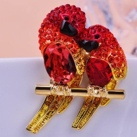 2206101168 Romantic Crystal birds  Brooch 1 color
