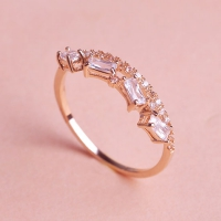 7102300006 Copper Rhinestone Lustre Statement Rings 2 Colores