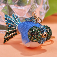 0210100265 Classic  Crystal GoldFish  Bag Key Chains