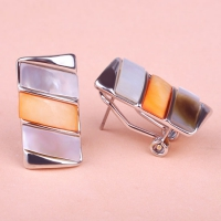 0203101523 Fashion Copper  Rhinestone Earrings 2 Colores