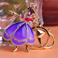 0210100260 Fashion Crystal Girl  Bag Key Chains