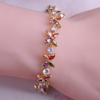 0205101199 Luxury Copper Swarovski Zirconia Bracelet 2 Colores