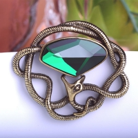 7106100508 Fashion Crystal snake  Brooch 2 colores