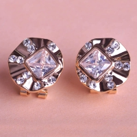 0203103097 Fashion Alloy  Rhinestone Earrings 2 Colores