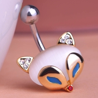 7613400010 Fashion Cat`s eye  Fox Piercing Navel Belly Button Rings 1 color