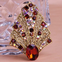 7106100472 Fashion Crystal Flower Brooch 4 colores