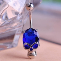 2213400784 Personality Navel Belly Button Rings Swarovski Zirconia Skeleton Alloy Piercing 5 Colores