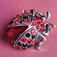 0206100323 Fashion Crystal  beetle   Brooch 1 color