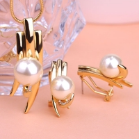 1203100952 Fashion Alloy  Pearl  Necklace&Earring Sets