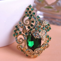 7606100021 Classic Crystal plant  Brooch 3 colores