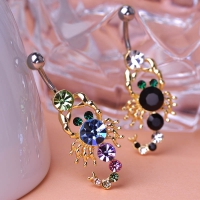 2213400851 Fashion Crystal scorpion Piercing Navel Belly Button Rings 1 color